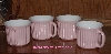 "MBA #5611- ""Set Of 4 Pink Good Cook 16oz Stoneware Mugs"""