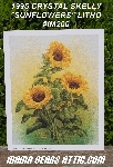 "+MBA #5611-0027  ""1995 Crystal Skelly ""Sunflowers"" Litho #IM200"""