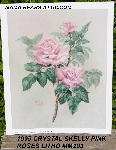 "+MBA #5611-008  ""1995 Crystal Skelly ""Pink Roses"" Litho #IM203"""