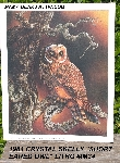 "+MBA #5611-0166  ""1984 Crystal Skelly ""Short Eared Owl"" Litho #IM34"""