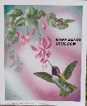 "+MBA #5611-0032  ""1990 Crystal Skelly ""Costa's Hummingbird"" Litho #IM156"""
