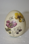 Solid Porceline Hand Painted Floral Egg