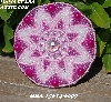 "MBA #5614-0097  ""Metallic Pink & Clear Luster Glass Bead Round Brooch"""
