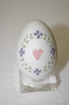 Fine Bone China Heart & Flowers Embossed Egg