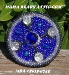 "MBA #5615-9745  ""Blue & Clear Glass Round Bead Brooch"""