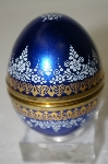 Made In Austria Elisabeth Steinbock Blue Enameled Egg Trinket Box