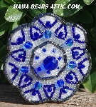 "MBA #5616B-143 ""Blue & Clear Luster Glass Bead Brooch"""