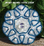 "MBA #5616B-232  ""Blue & Clear Luster Glass Bead Brooch"""