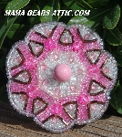 "MBA #5616B-240  ""Pink & Clear Luster Glass Bead Brooch"""