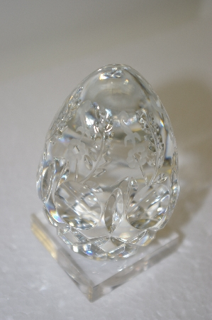 +MBA #11-074  Lead Crystal Made In Yugoslavia Large Egg