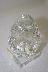 Lead Crystal Made In Yugoslavia Large Egg