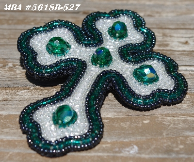 "MBA #5618B-527  ""DK AB Green & Clear Luster"""