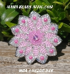 "MBA #5620B-946  ""Two-Tone Pink & Clear Luster"""