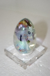 1986 Clear & Multi Glass Hand Made Egg