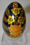 **Floral Covered & Hand Painted Wooden Egg From India
