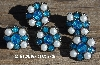 "MBA #5630B-2909    ""Aqua & White Set Of (5)"""