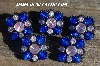 "MBA #5630B-2920  ""Royal Blue & Clear Set Of 5"""