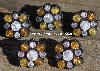 "MBA #5630B-2923  ""Clear & Amber Set Of 5"""