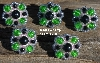 "MBA #5630B-2934  ""Green & Black Set Of 5"""