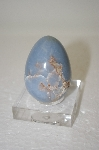 Blue Hand Cut & Polished Gemstone Egg
