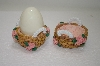 Set Of Two Pink Rose Basket Egg Holders