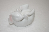 **1984 Set Of 2 Bone China Hand Painted Bunny Egg Holders