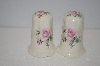 **MBA #11-019  Pink Rose Salt & Pepper Shakers