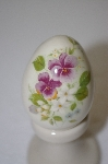 Porcelain Lavender Flower Egg
