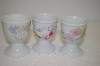 Set Of 3 Porcelain Egg Cups