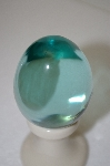Clear Green Large Glass Egg
