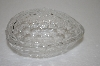 +MBA #12-187  1990's Fancy Glass Egg Shaped Dish
