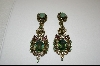 """SOLD""      Heidi Daus Large Crystal Drop Earrings"