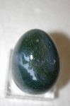 Hand Cut & Polished Grey/Green Shaded Gemstone Egg