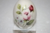 +MBA #12-106  Hand Painted Porcelain Rose Egg