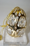 24k Gold Plated Crystal Egg Ornament