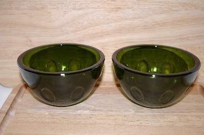 "**MBA #13-064      ""Set Of 2 Bottle Green Berry Bowls"