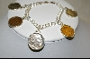 **MBA #11   Italian Made American Coin Sterling Charm Bracelet