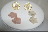 +  Fresh Water Pearl Posts  W/  3 Pairs Of Mother Of Pearl Hand Carved Flowers