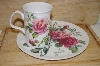 **MBA #13-168  English Rose Sandwich Plate & Cup