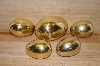 +MBA #13-212  1990's Set Of 5 Brass Eggs