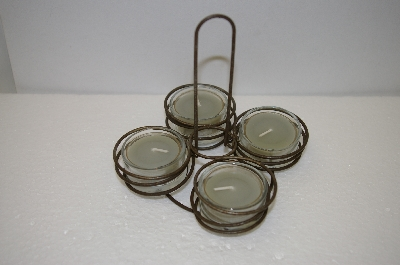 **MBA #-09626   Rustic Wire Tea Light Holder