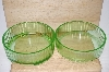 **Green Depression Glass Food Storage Dishes