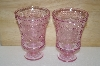 "**MBA #14-006B   ""Set Of 2 Pink  Fancy Glass's"""