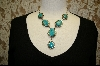 **  6 Stone Blue Artist Signed Turquoise Necklace