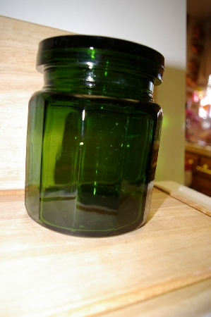 "**MBA #14-289    ""Large Bottle Green Glass Canister"