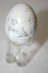 White Howlite Hand Cut & Polished Egg