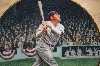 "+MBA #   ""Babe Ruth"" The Called Shot By Artist Brent Benger"