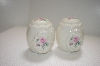 **MBA #14-164  Formal Ceramic Pink Rose Salt & Pepper Shakers