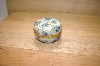 "+MBA #14-027A  ""Blue Roses Round Porcelain Trinket Box With Candle"