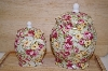 **MBA #13-188  Set Of 2 Duchess Rose Vanity Jars